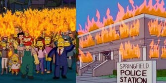 simpsons george floyd-death blm protests prediction