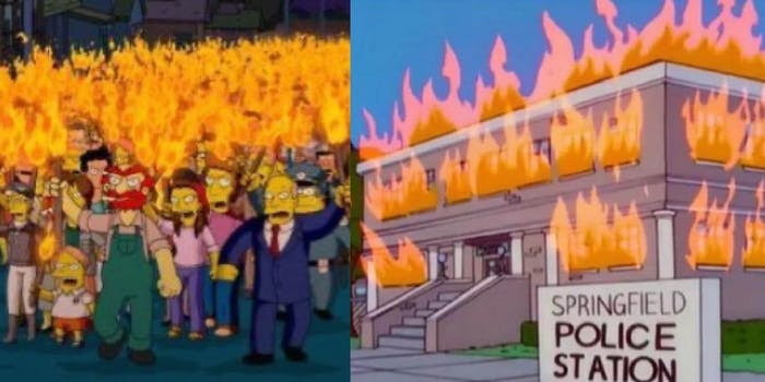 simpsons george floyd-death blm protests prediction