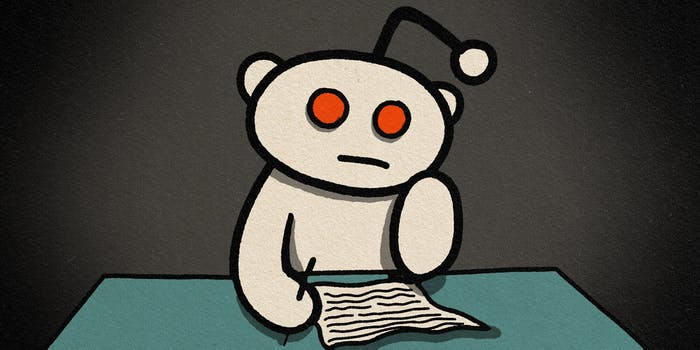 snoo writing letter