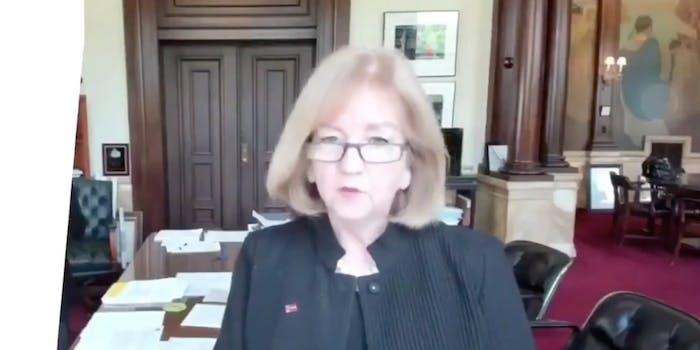 St. Louis Mayor Lyda Krewson during a Facebook livestream