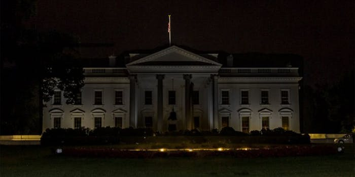 White House without its lights