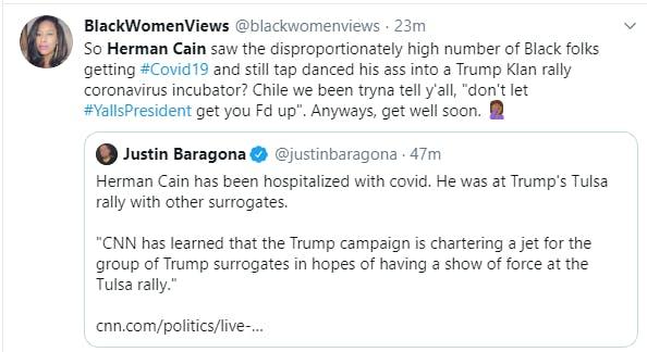 Herman Cain Coronavirus