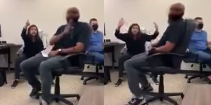 The woman seen yelling N-word at man who fired her