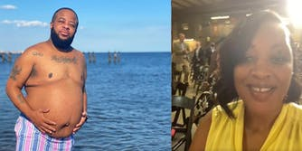 Left: Kayden Coleman at the beach; Right: Angela Stanton King