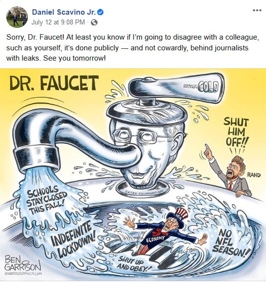 Dan Scavino Anthony Fauci Cartoon