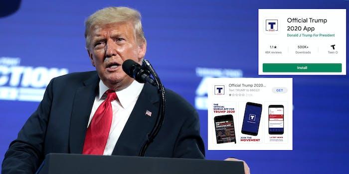 Donald Trump App TikTok Bad Reviews