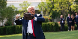 Donald Trump First Pitch Jealous Anthony Fauci