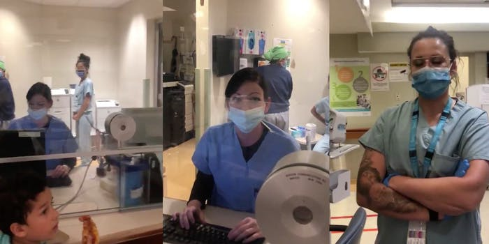 video of woman refusing to wear a mask in the hospital