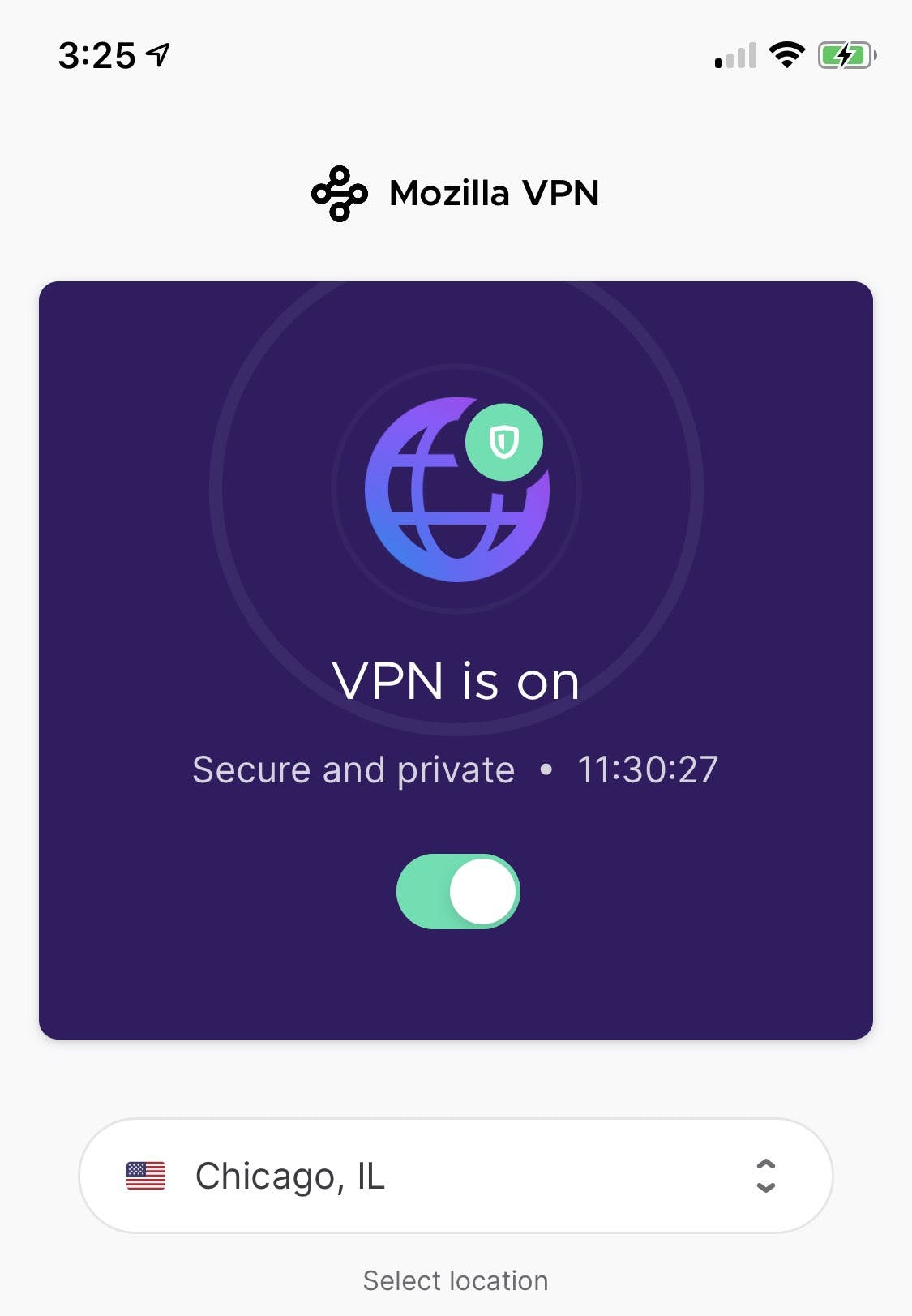Mozilla VPN iOS