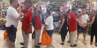 Ontario man yelling racist comments at T&T market after being asked to wear a mask