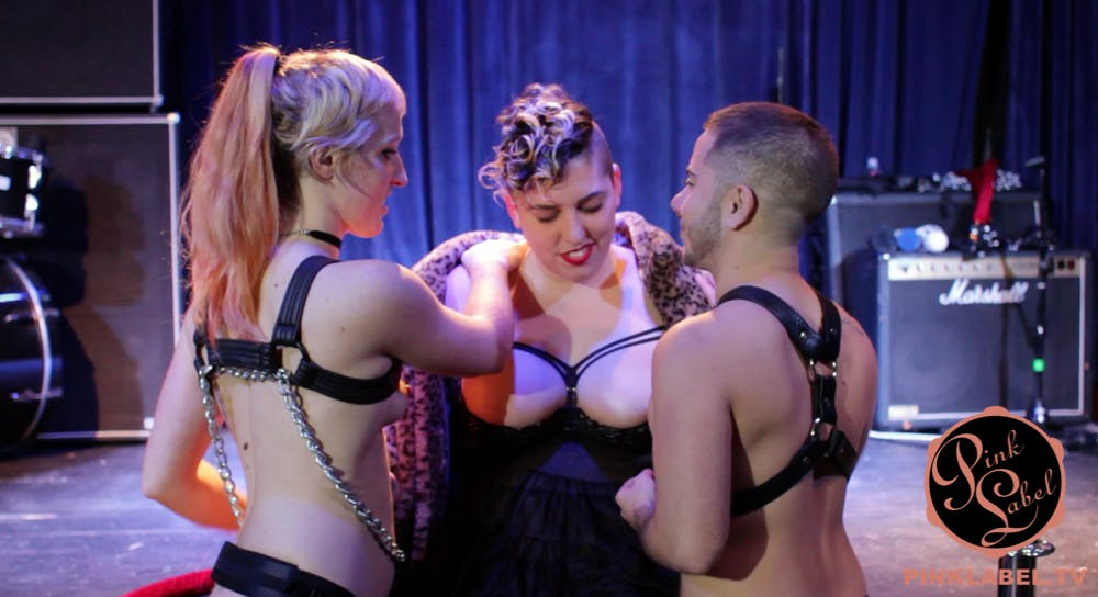 threesome porn ethical body positive queer BDSM kinky pink label