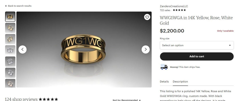 QAnon Etsy Ring