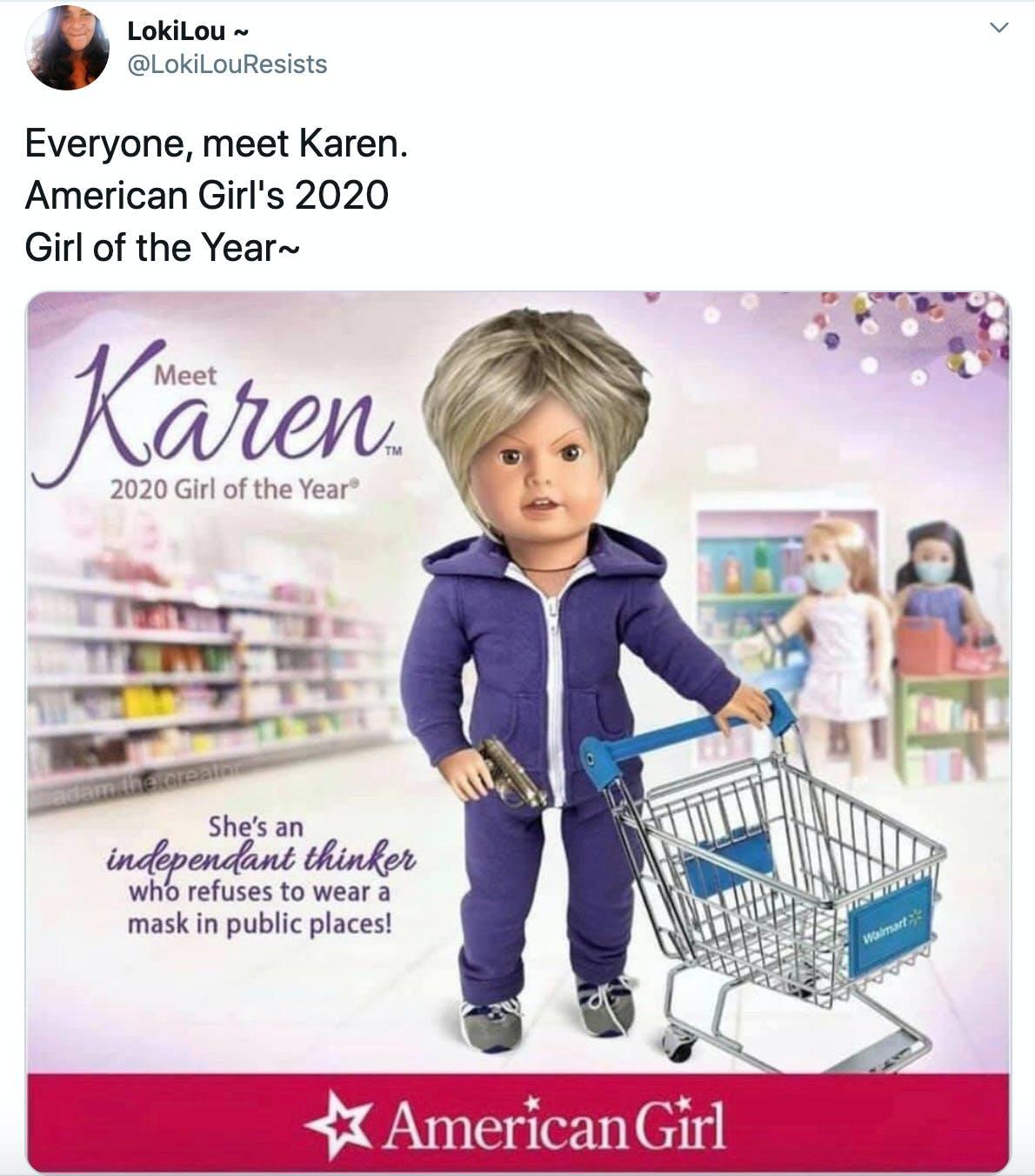 Everyone, meet Karen. American Girl's 2020  Girl of the Year~