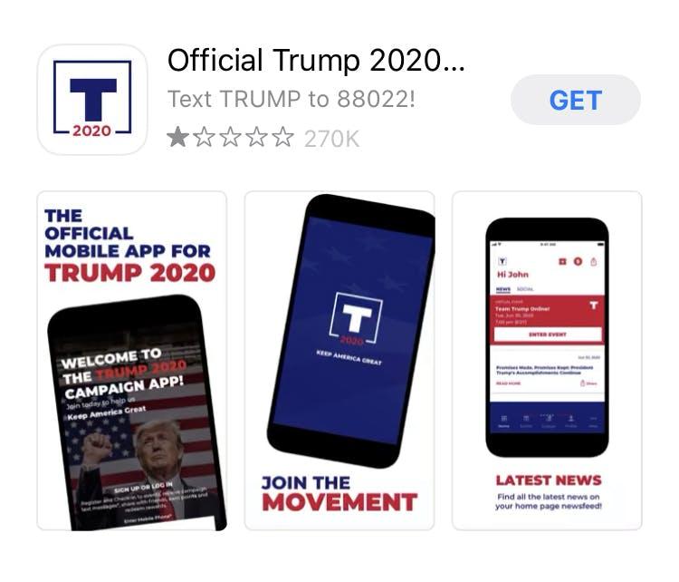 Trump App TikTok Apple