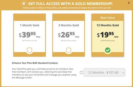 AdultFriendFinder membership tiers