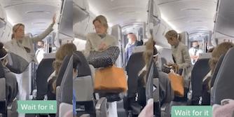 Karen leaving plane because she's not wearing a mask