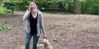 Amy Cooper seen calling the cops