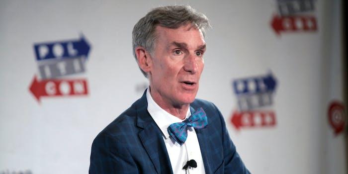Bill Nye face mask video