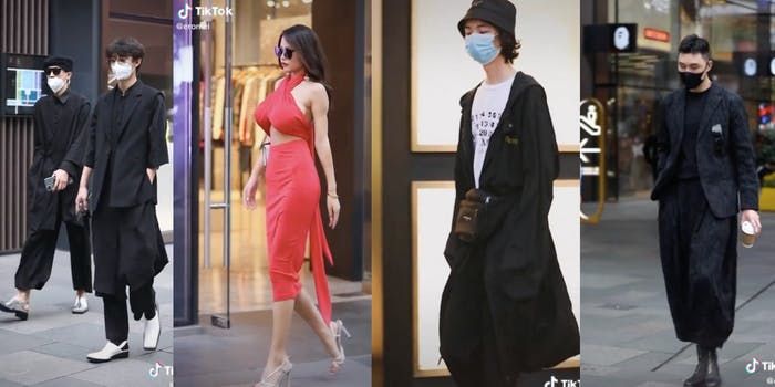 Examples of Chinese street fashion