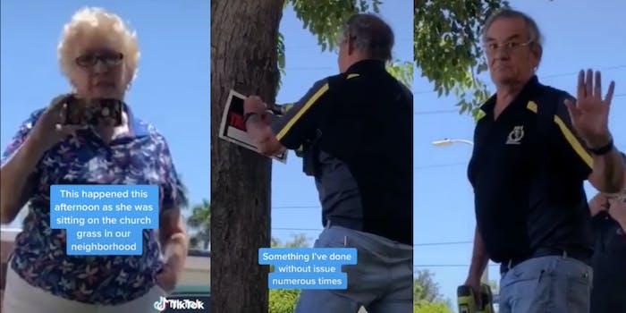 church members no trespassing sign black woman