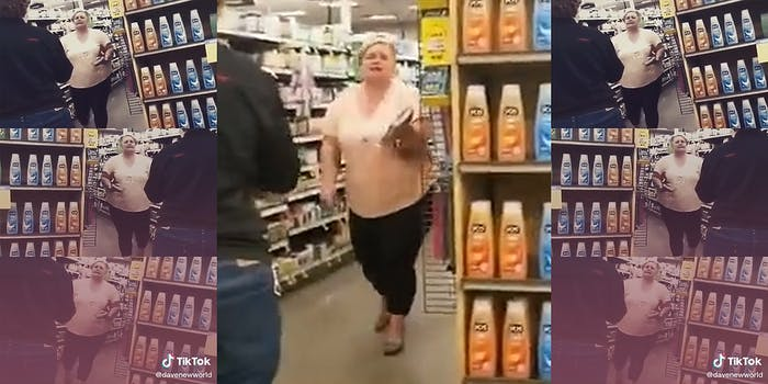 woman having a meltdown in a store