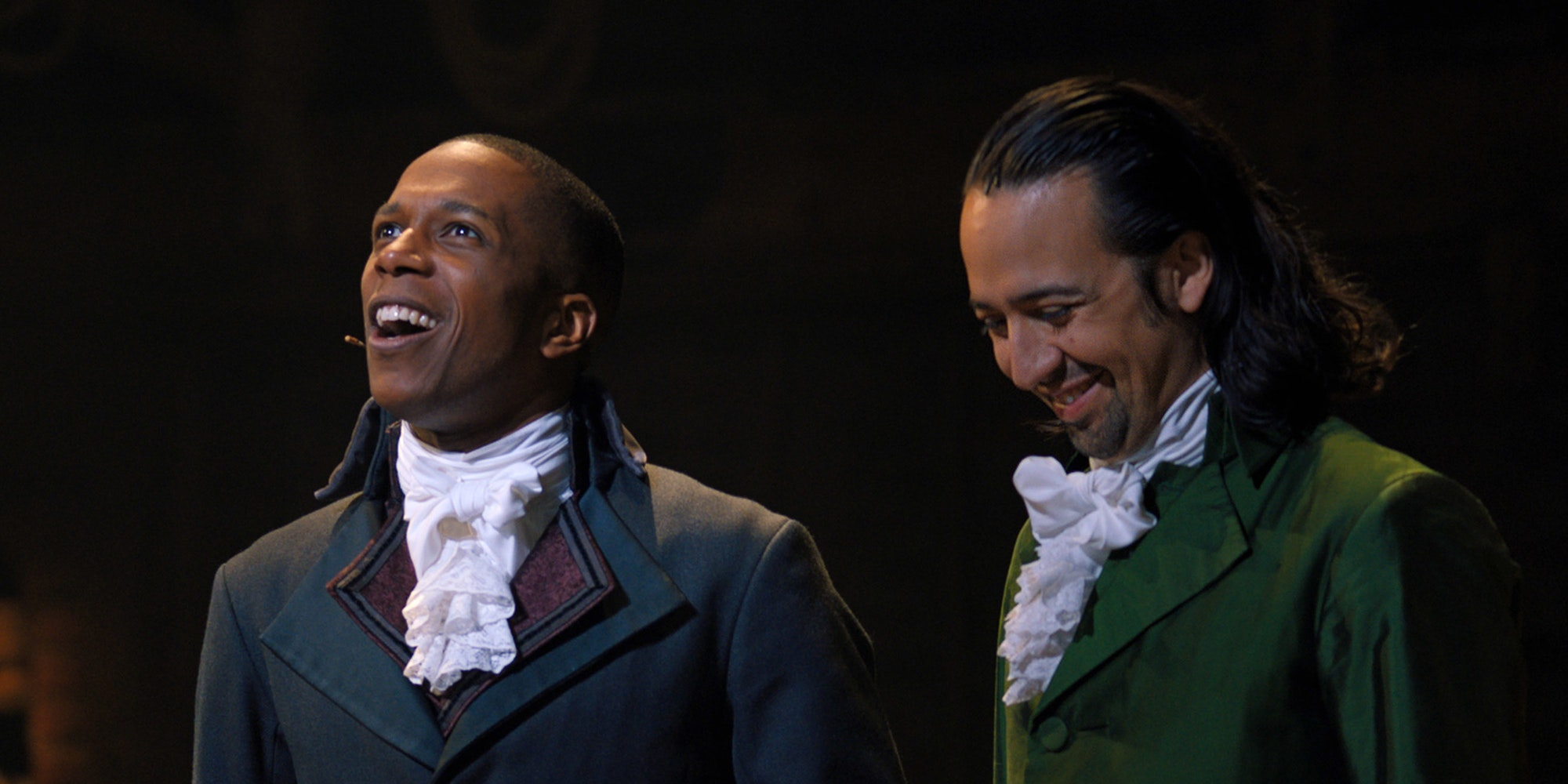 Leslie Odom Jr and Lin-Manuel Miranda