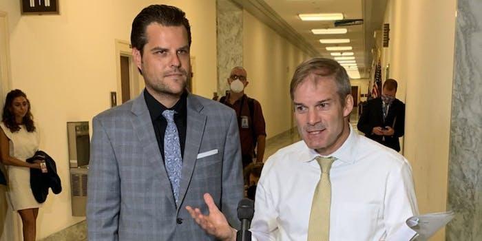 Jim Jordan and Matt Gaetz in D.C.