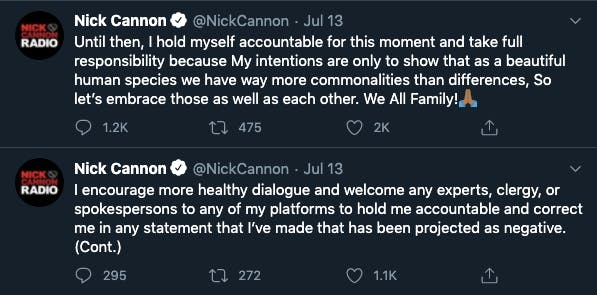 Nick Cannon fired anti-Semitic tweets