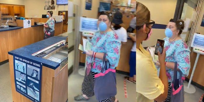 woman using racial slurs in los altos post office