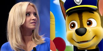 White House Press Secretary Kayleigh McEnany and Paw Patrol