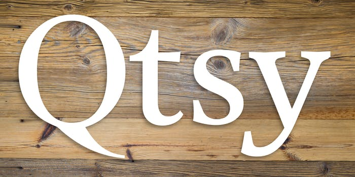 Etsy logo with E replaced by Q