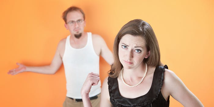 woman with loser boyfriend