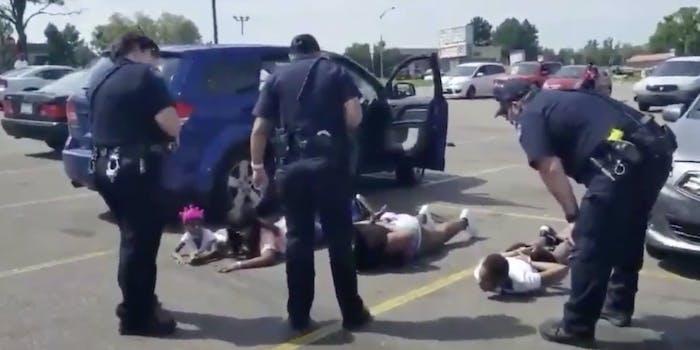 Aurora Police arresting children face down on the ground