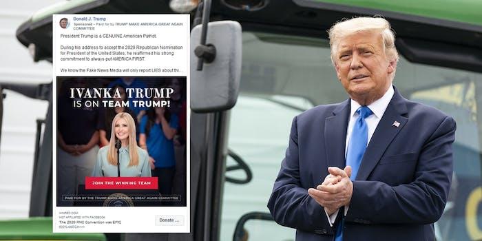 Donald Trump Ivanka Trump Facebook Ads