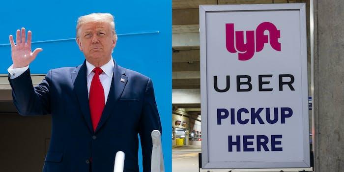 Donald Trump Uber Lyft California Gig Economy Law AB5