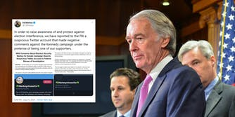 Ed Markey Joe Kennedy Report Twitter Account FBI