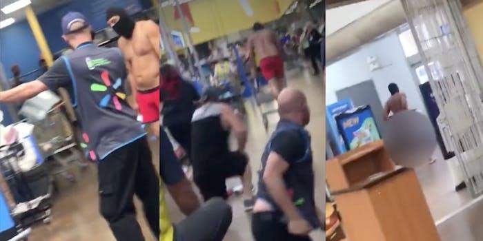 Walmart man puches elderly employee