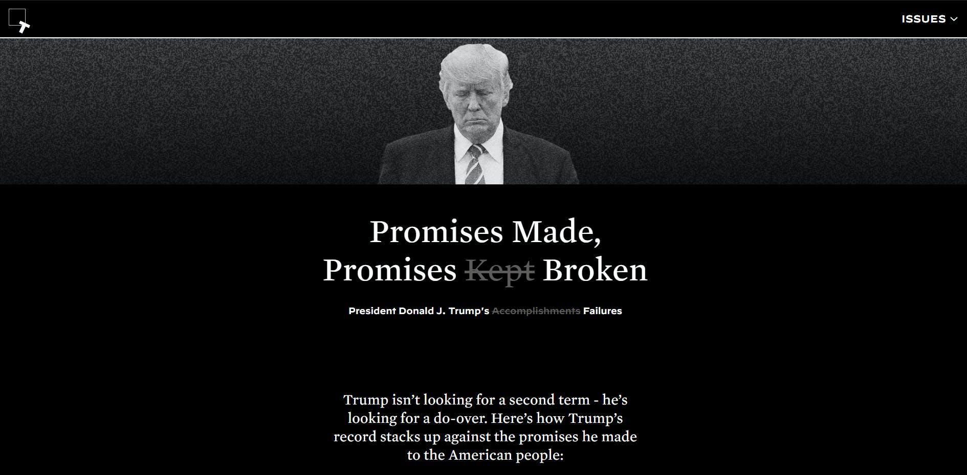 Keep America Great Website Biden Trump