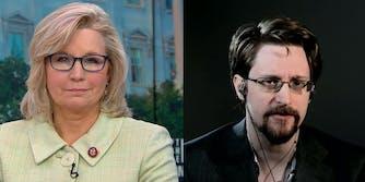 Liz Cheney Edward Snowden