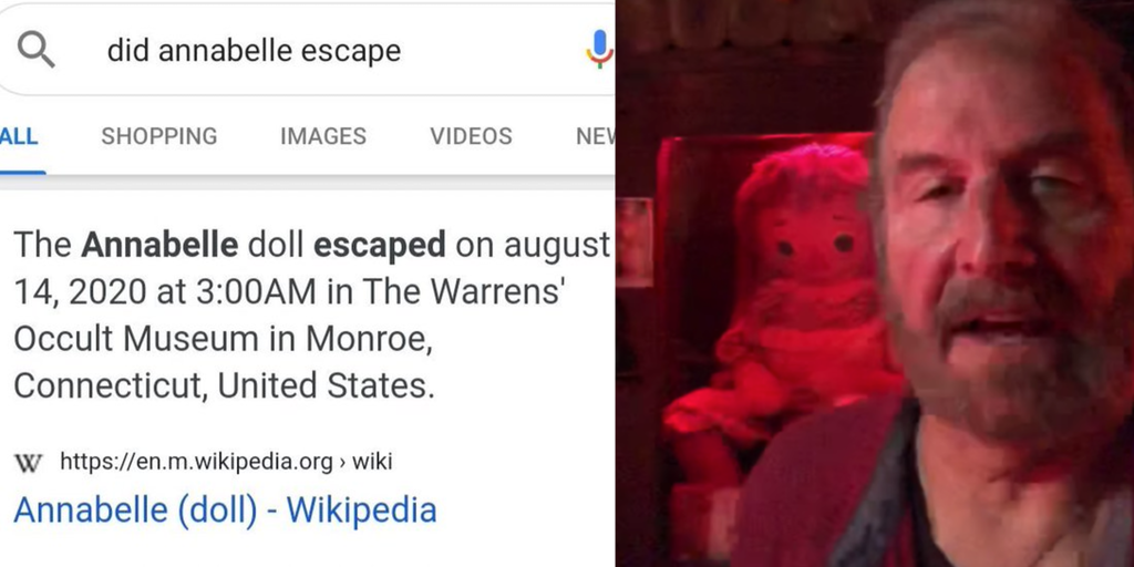 annabelle doll escape memes