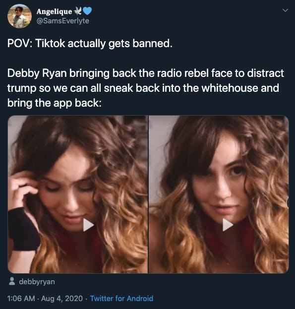 Debby Ryan meme TikTok reaction