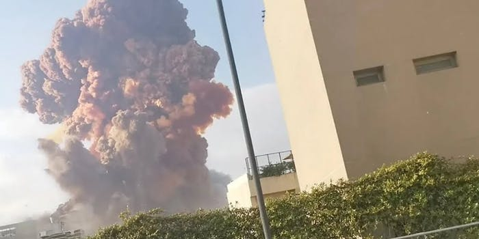 An explosion in Lebanon