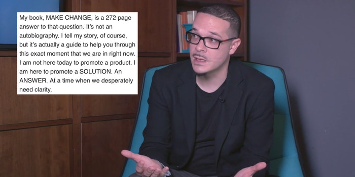 Shaun King next to an email