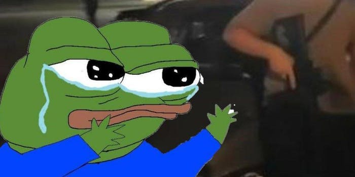 sad pepe meme with kyle rittenhouse