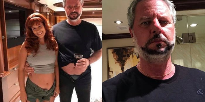 jerry falwell jr with pants pulled down with underwear showing