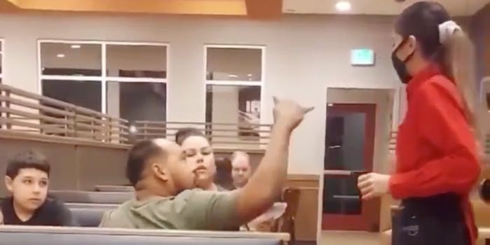 A man yelling at a woman in Ihop