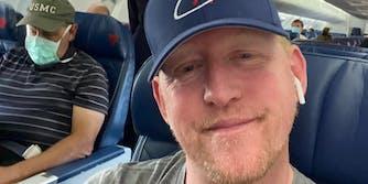 Robert J. O'Neill on a flight