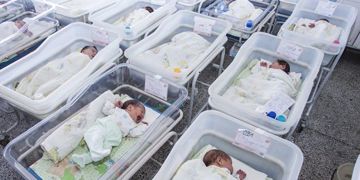 babies in nursery
