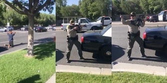 Los Angeles County deputies pointing gun at innocent Black teen