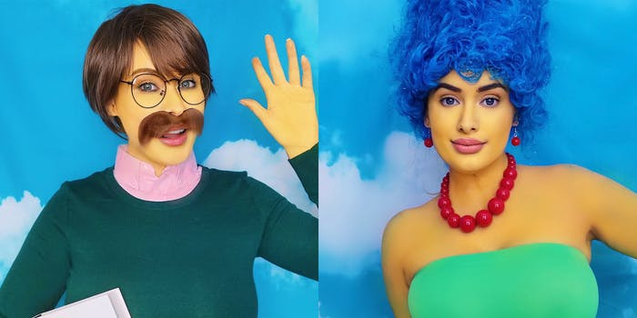 Laura Lux as Ned Flanders and Marge Simpson